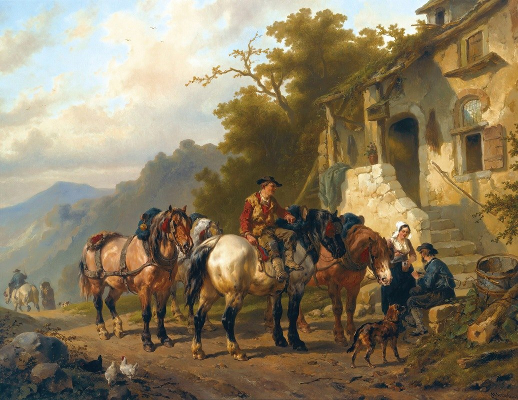 Wouterus Verschuur - A Rest At The Inn