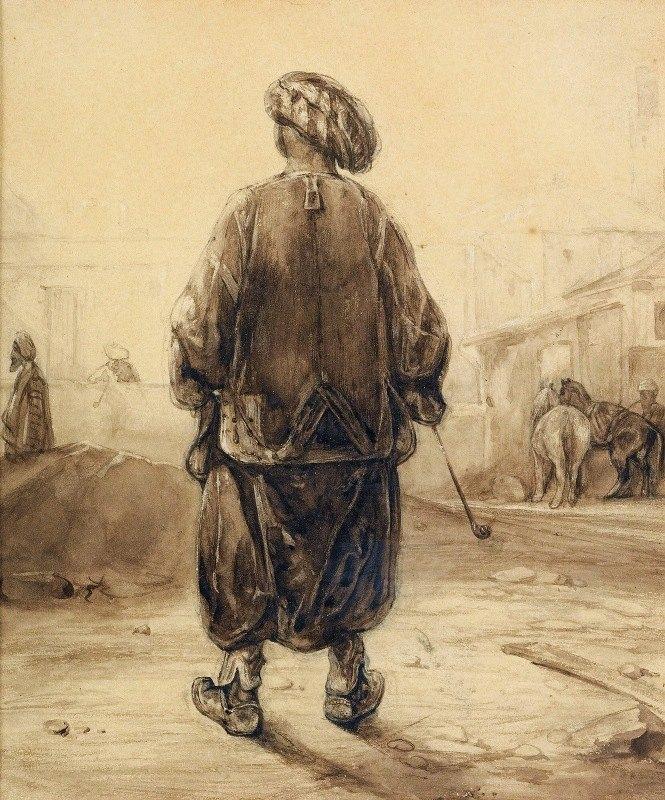 Alexandre-Gabriel Decamps - The Chibouk Smoker