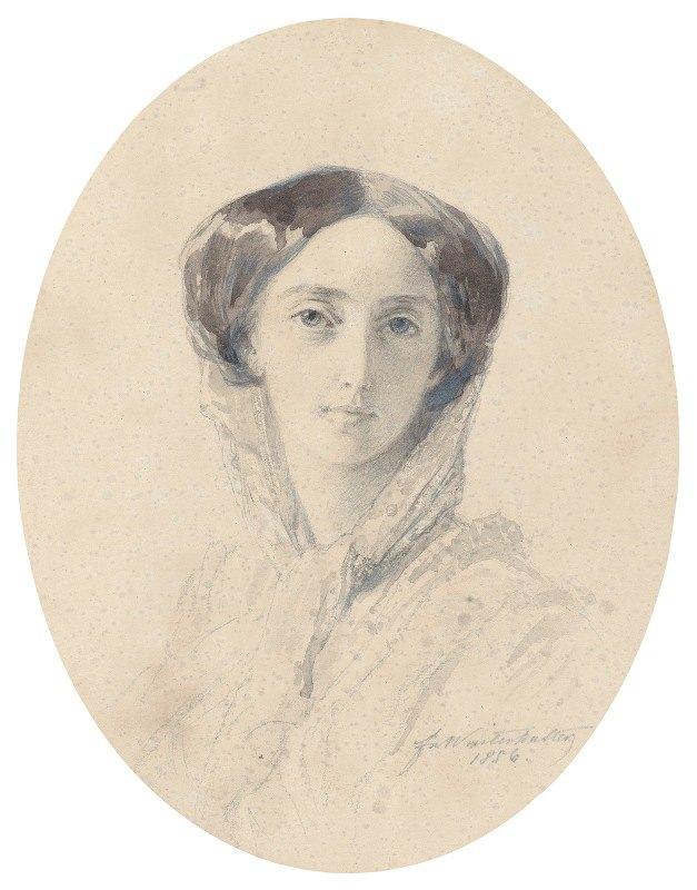Franz Xaver Winterhalter - Portrait Of Grand Duchess Olga Nikolaevna, Later Queen Consort OfWürttemberg