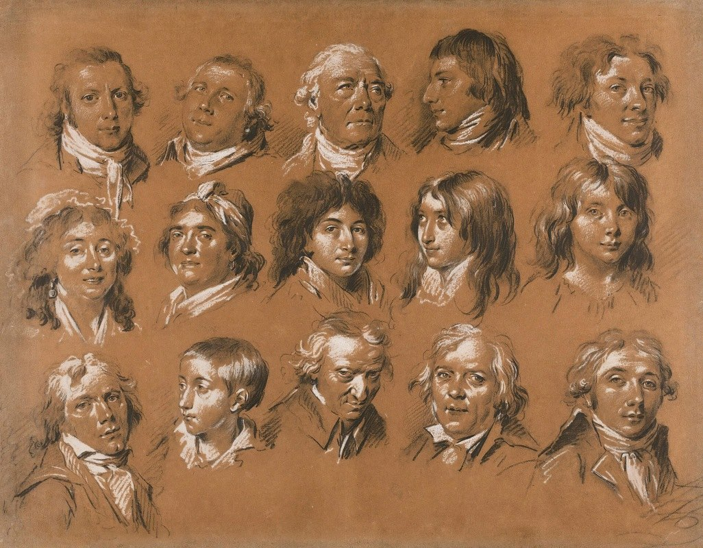 Louis Léopold Boilly - Portraits Of The Marquis De Rozay And His Family And Entourage, Including A Self-Portait Of The Artist