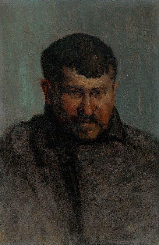 Ľudovít Čordák - Male head study