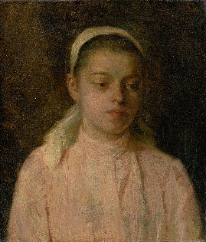 Ľudovít Čordák - Study of a Head of Peasant Girl