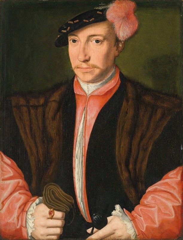 School Of Antwerp - Portrait of a nobleman