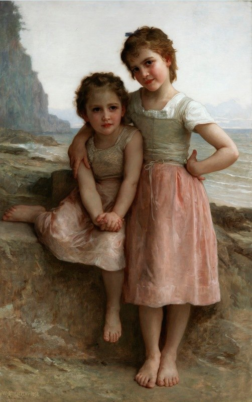 William-Adolphe Bouguereau - Sisters on the Shore