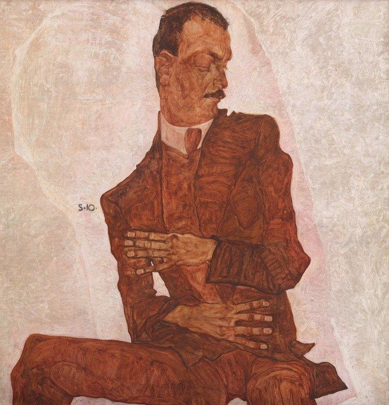 Egon Schiele - Porträt Arthur Roessler