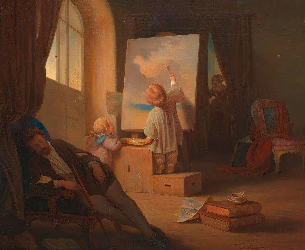 Josef Danhauser - Der schlafende Maler