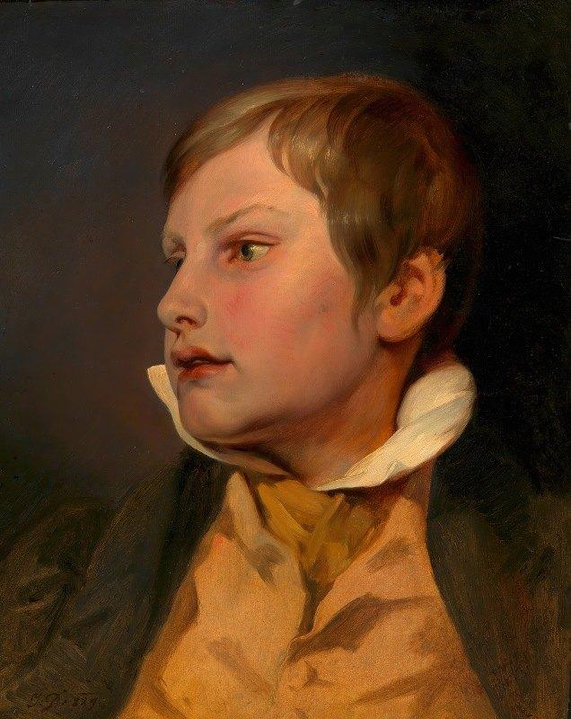 Josef Danhauser - Porträt eines Knaben (Carl Danhauser)