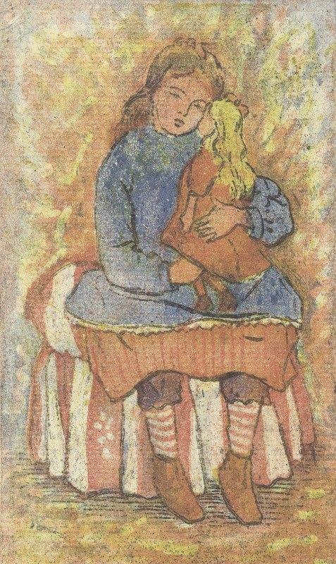 Lucien Pissarro - Meisje met pop