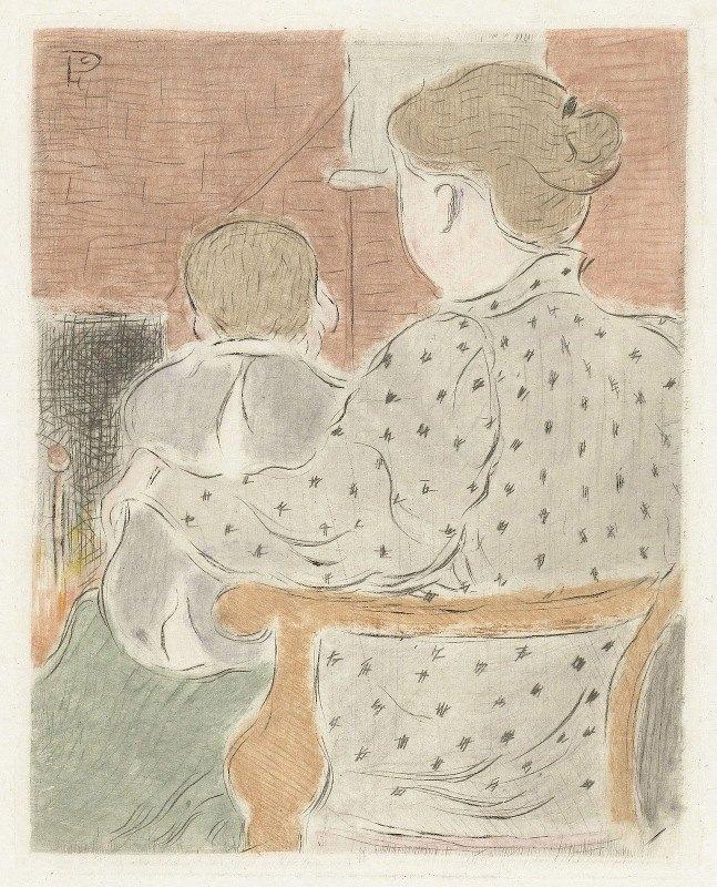 Lucien Pissarro - Moeder met kind