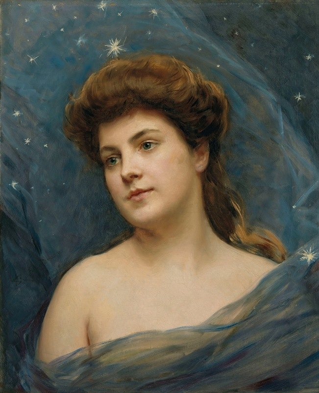 Raimundo de Madrazo y Garreta - Young woman surrounded by stars