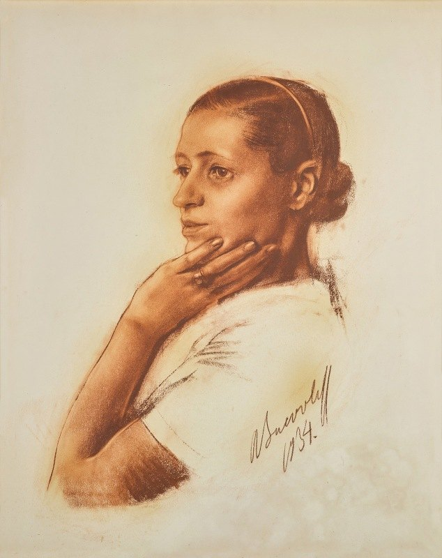 Alexander Evgenievich Yakovlev - Portrait of Irene Andreeva