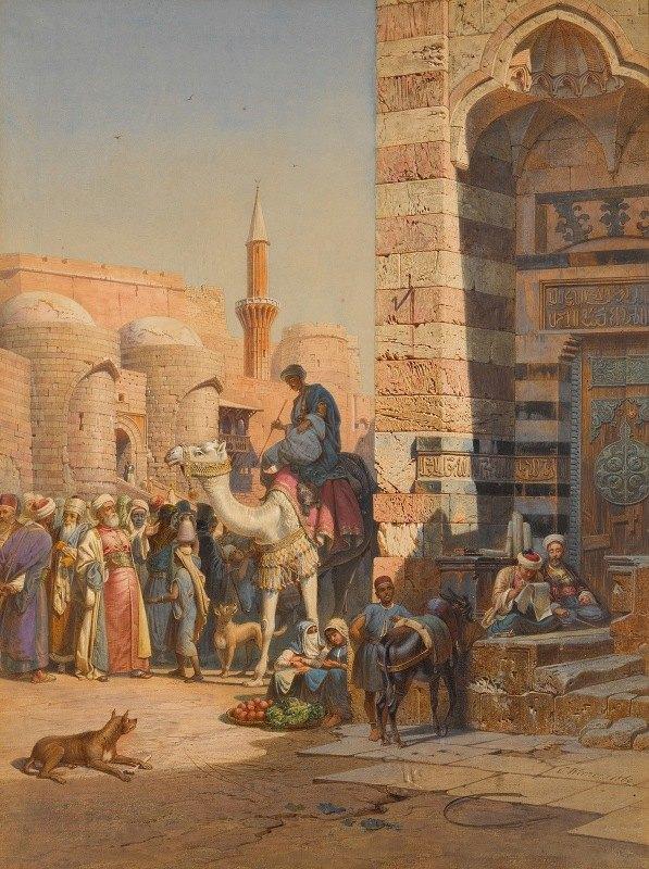 Carl Werner - Street in Cairo