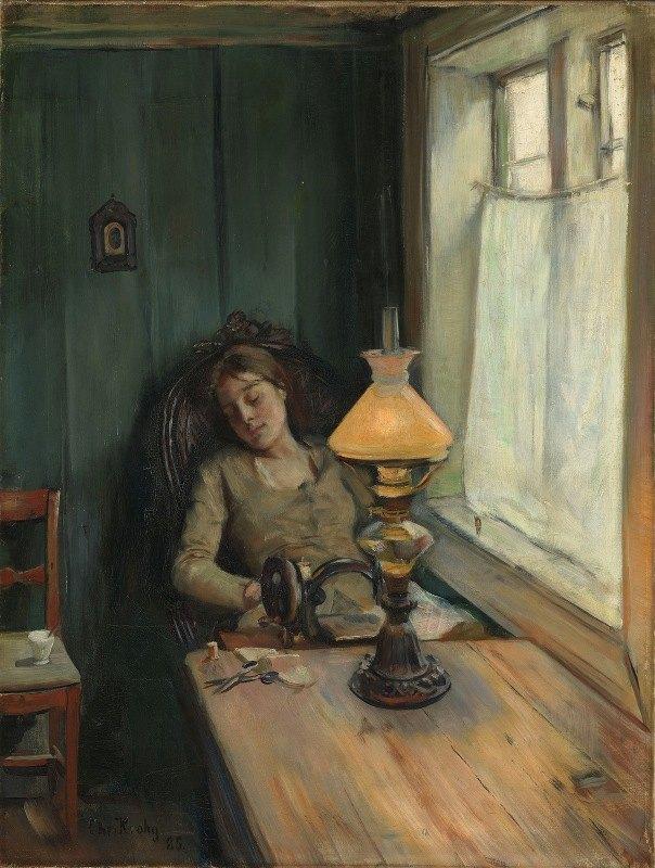 Christian Krohg - Tired