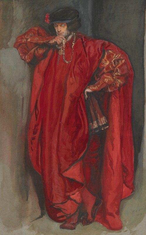 Edwin Austin Abbey - Iago, fromOthello