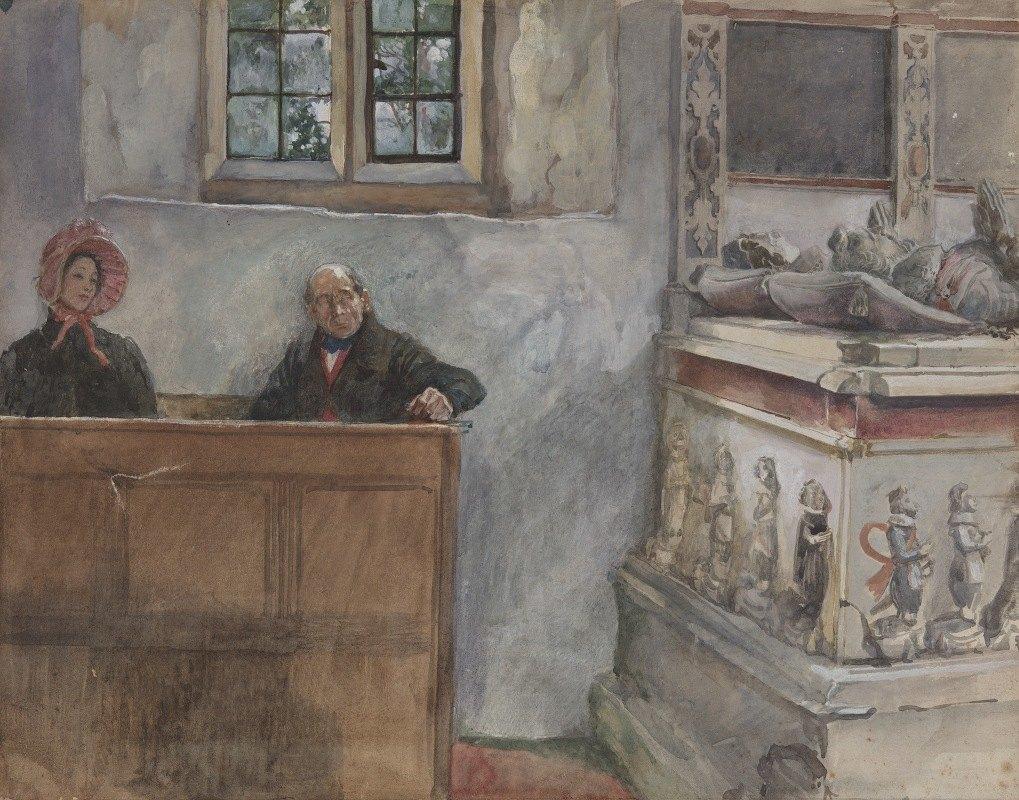Edwin Austin Abbey - In Church