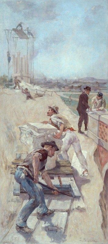 Emile-Henri Blanchon - Travaux d'établissement d'un square