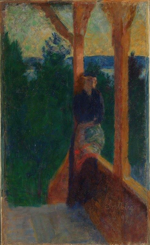 Harald Sohlberg - On the Veranda