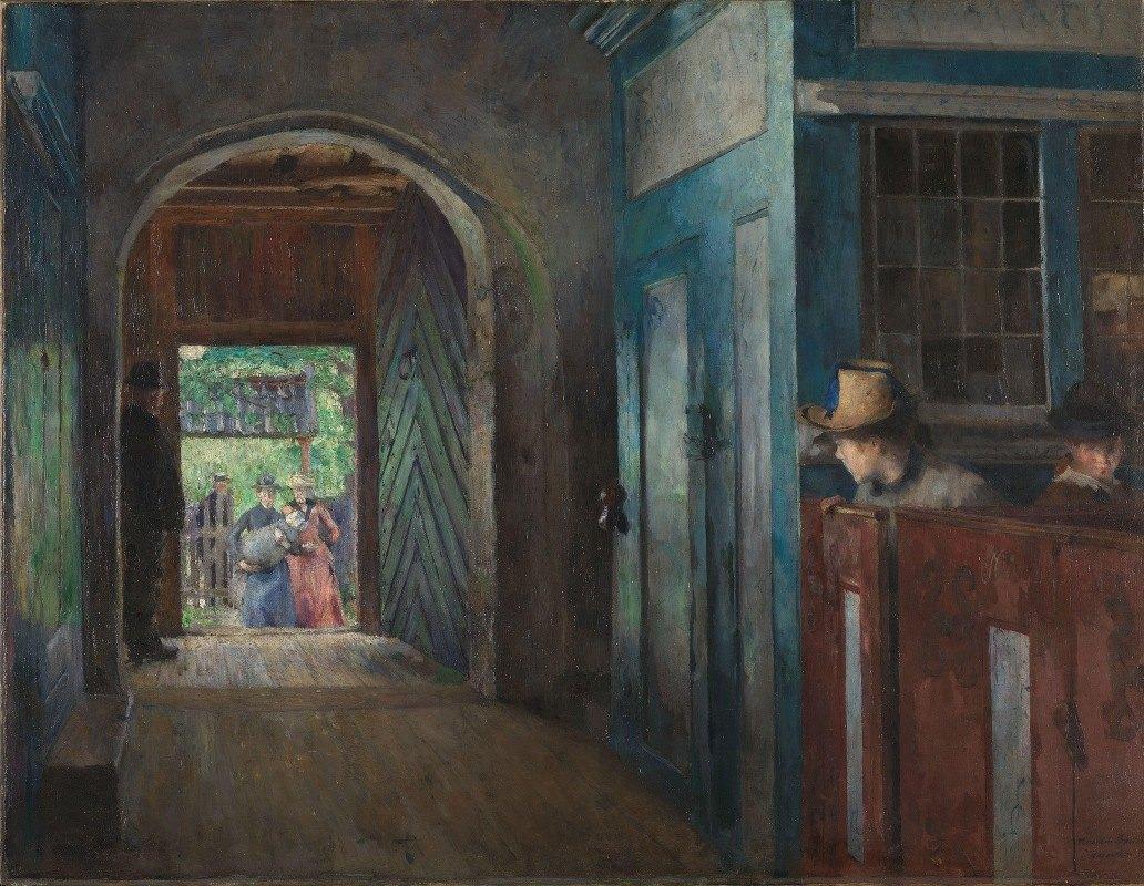 Harriet Backer - Christening in Tanum Church
