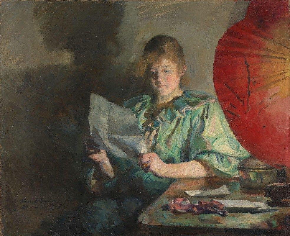 Harriet Backer - Evening, Interior