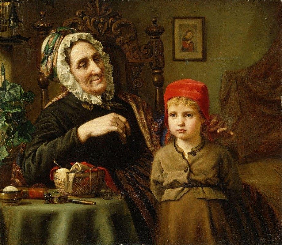 Harriet Backer - Little Red Riding Hood