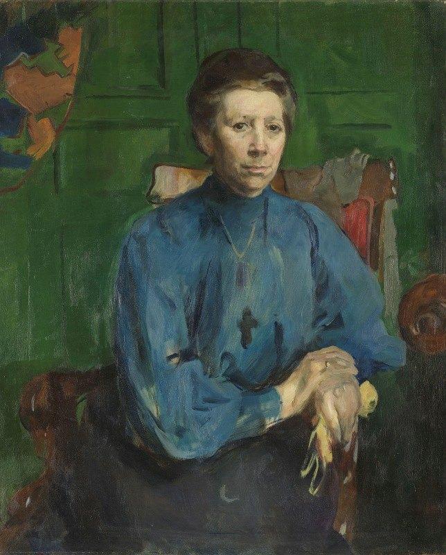 Harriet Backer - Mrs. Vedastine Aubert, b. Moe