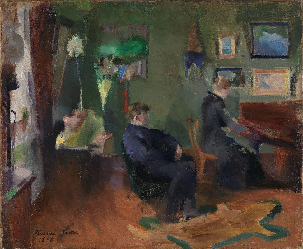 Harriet Backer - Music, Interior form Kristiania