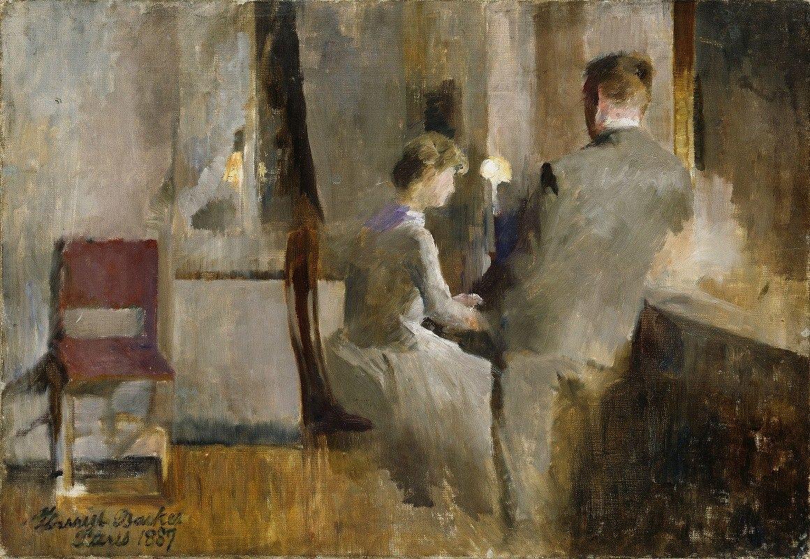 Harriet Backer - Music, Interior from Paris