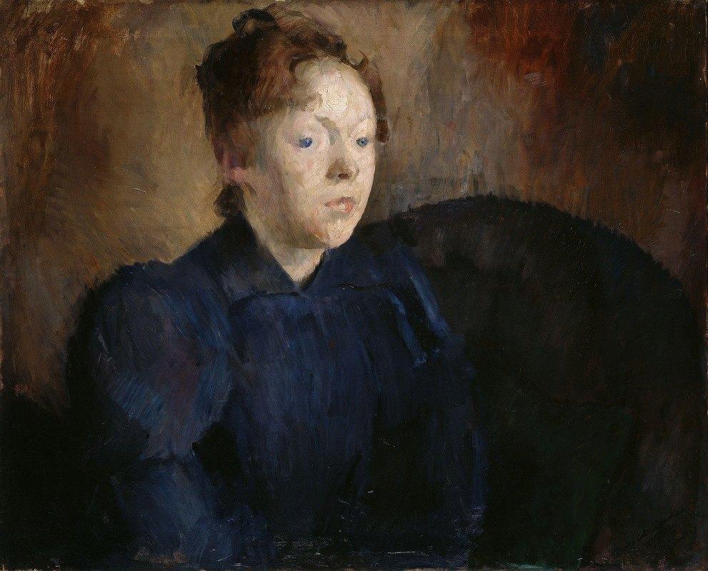 Harriet Backer - Portrait of Nenna Janson Nagel, b. Backer Lunde
