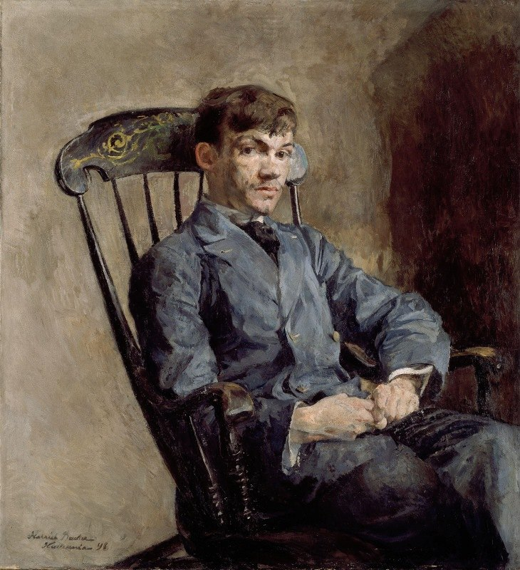 Harriet Backer - Portrait of the Composer Johan Backer Lunde