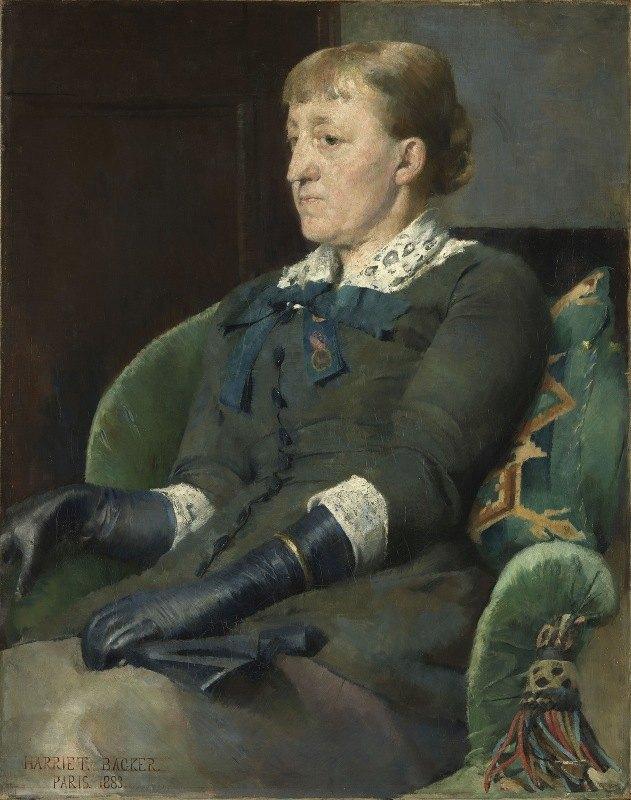 Harriet Backer - Portrait of the Painter Kitty Kielland