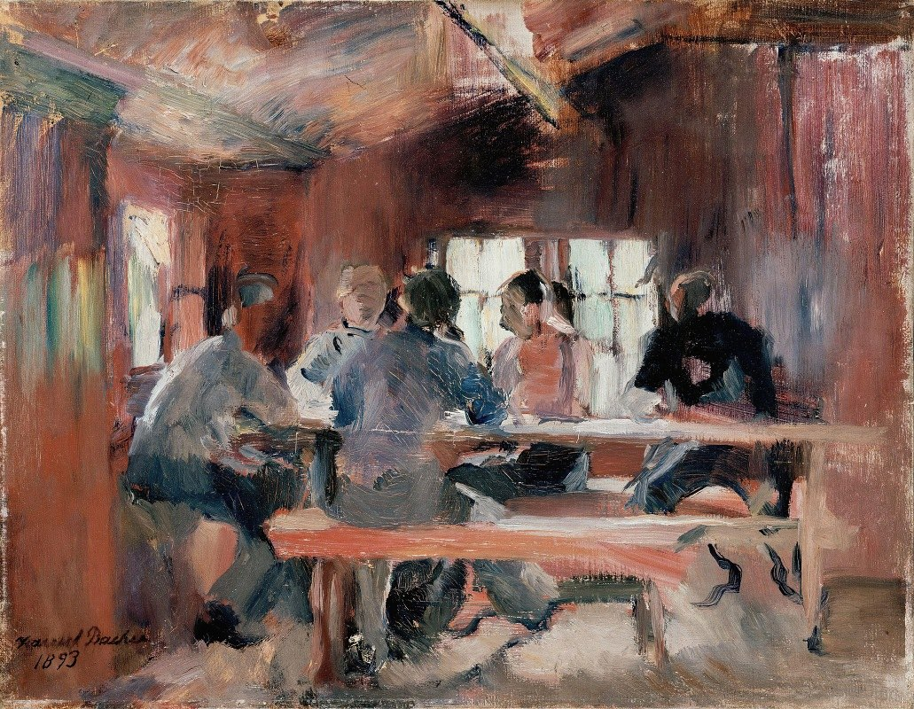 Harriet Backer - Study for Card Players