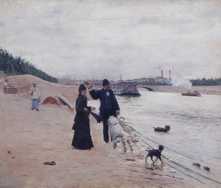 Jean Béraud - Les berges de la Seine