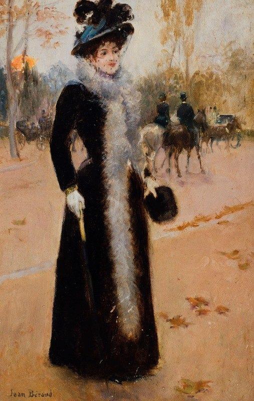 Jean Béraud - Parisienne au Bois.