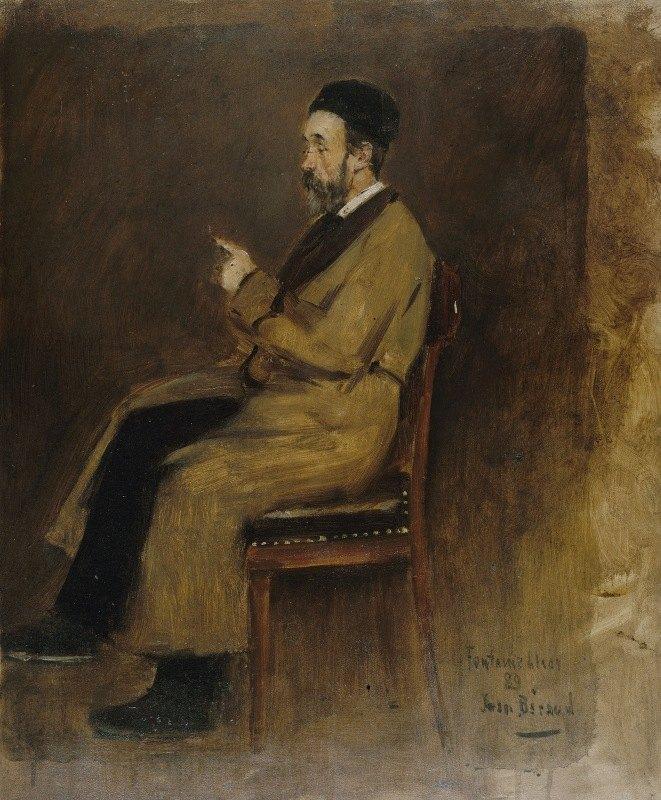 Jean Béraud - Portrait de Jean-Jacques Weiss (1827-1891), rédacteur au 'Journal des débats'
