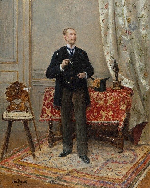 Jean Béraud - Portrait d'Edmond Taigny (1828-1906), historien et collectionneur