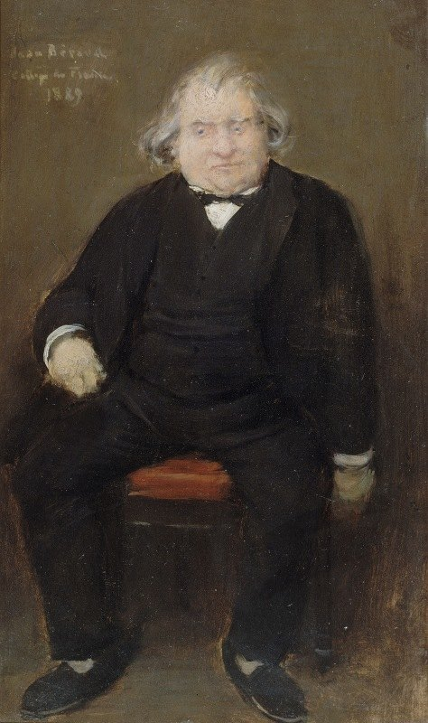 Jean Béraud - Portrait d'Ernest Renan (1823-1892), philosophe