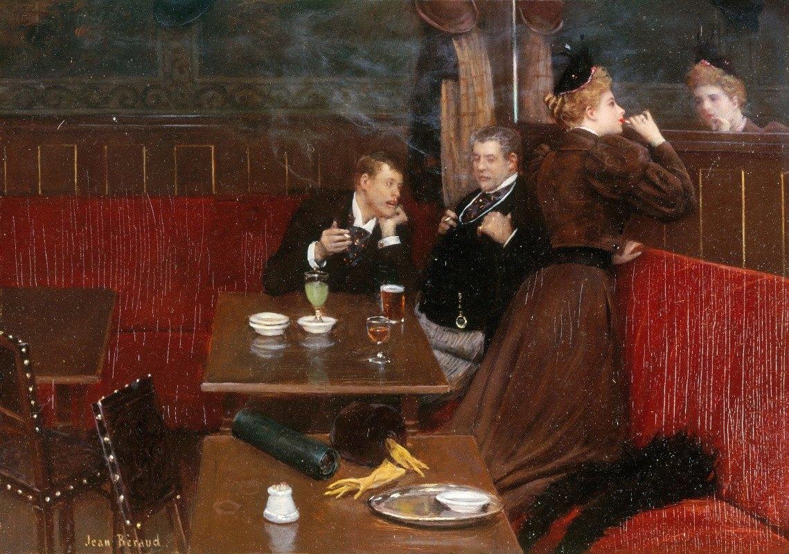 Jean Béraud - Trois personnages dans un café