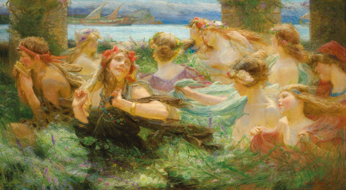 Charles William Wyllie - On the way to the festival