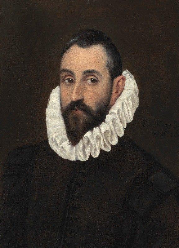 El Greco (Domenikos Theotokopoulos) - Portrait of a gentleman