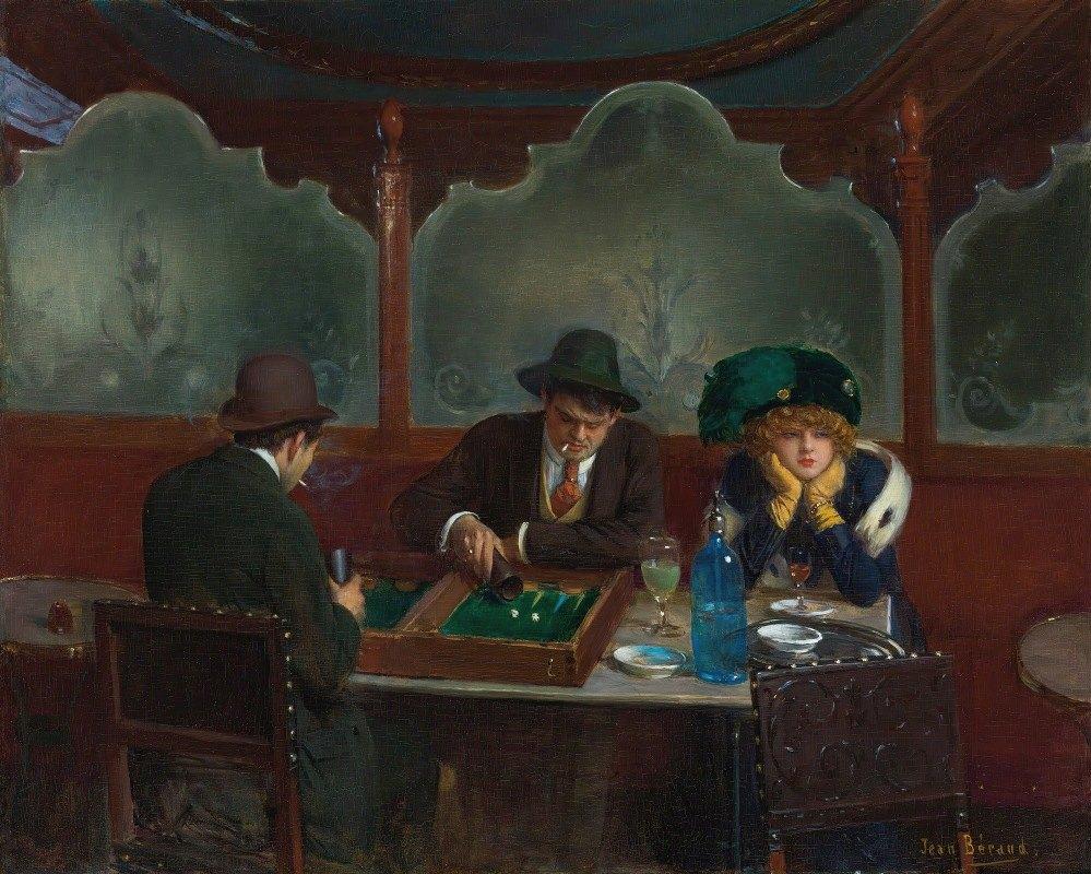 Jean Béraud - Les joueurs de jacquet backgammon