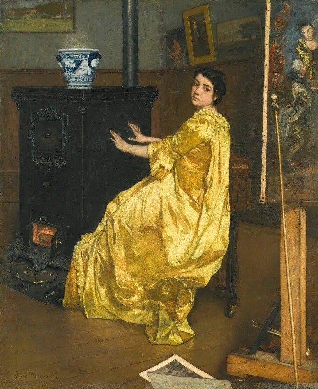 Alfred Stevens - Dans l'atelier; le repos du modèle