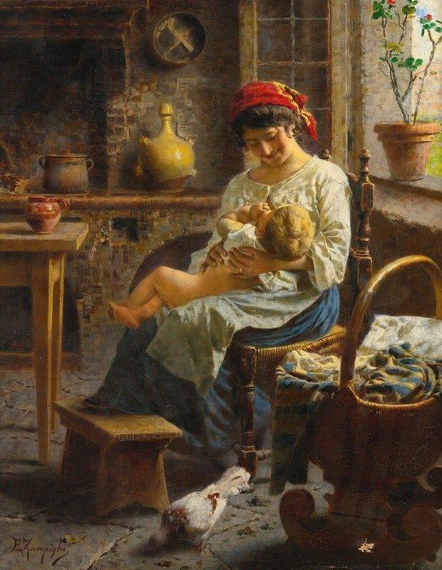 Eugenio Zampighi - The happy mother