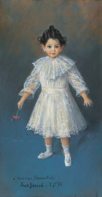 Jean Béraud - Portrait of three-years-old Jacques Blumenthal