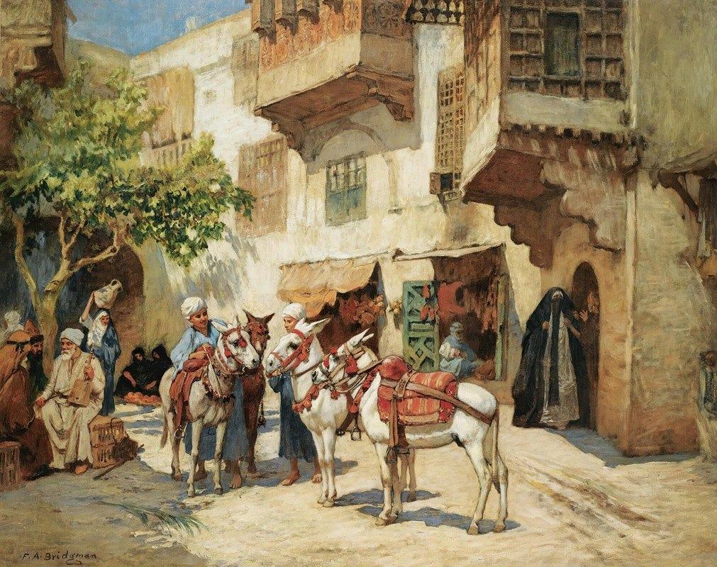 Frederick Arthur Bridgman - The market square