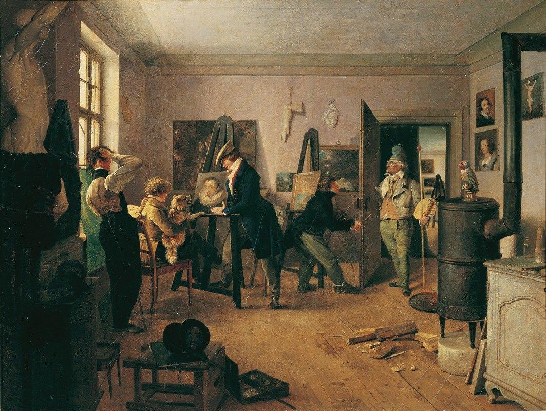 Josef Danhauser - Das Scholarenzimmer