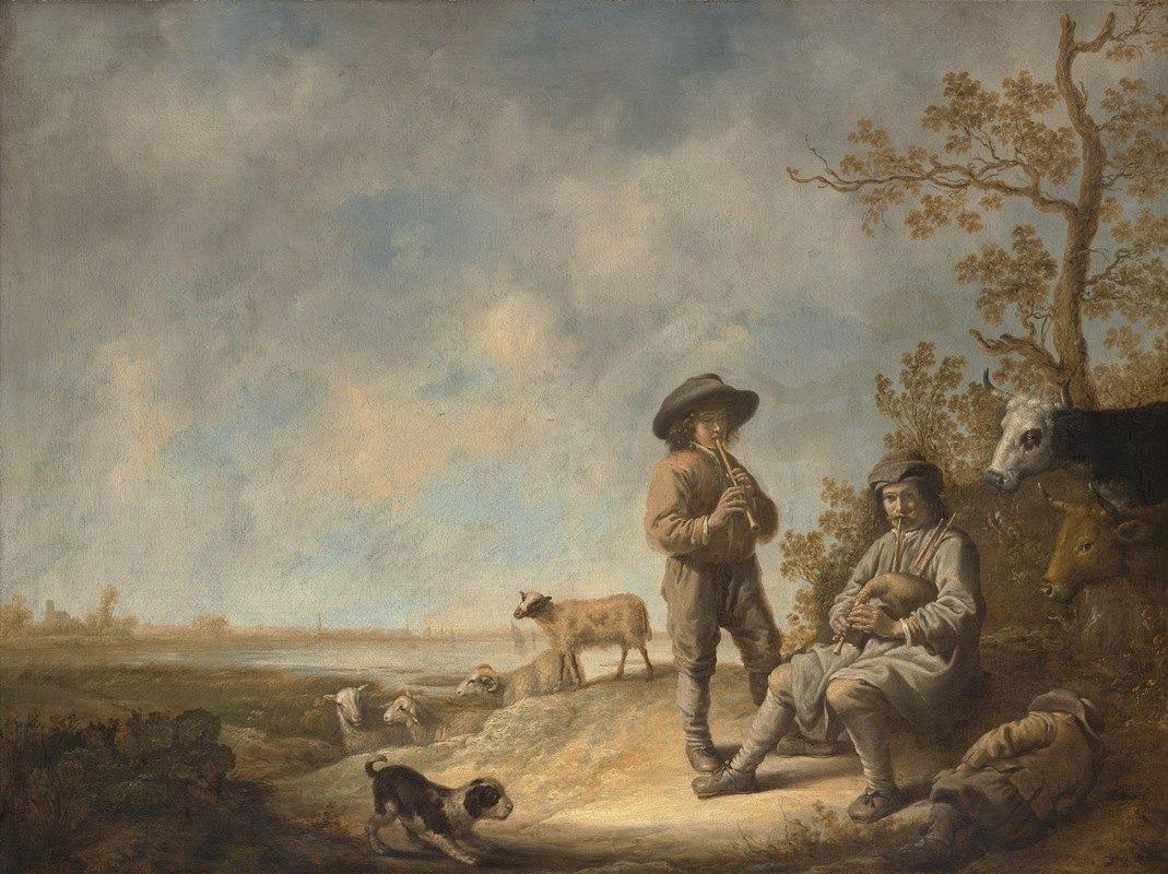 Aelbert Cuyp - Piping Shepherds