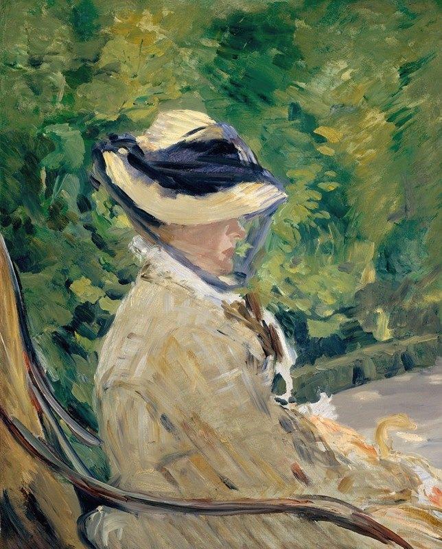 Édouard Manet - Madame Manet (Suzanne Leenhoff, 1829–1906) at Bellevue
