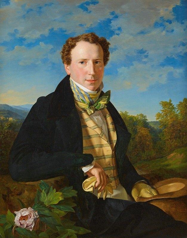 Ferdinand Georg Waldmüller - Selbstporträt in jungen Jahren