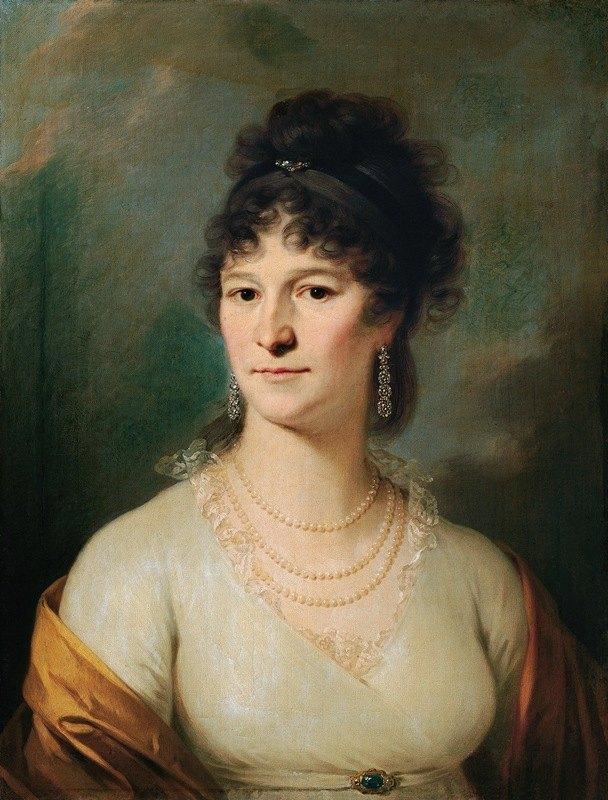 Johann Baptist Lampi the Elder - Brustbild einer Dame