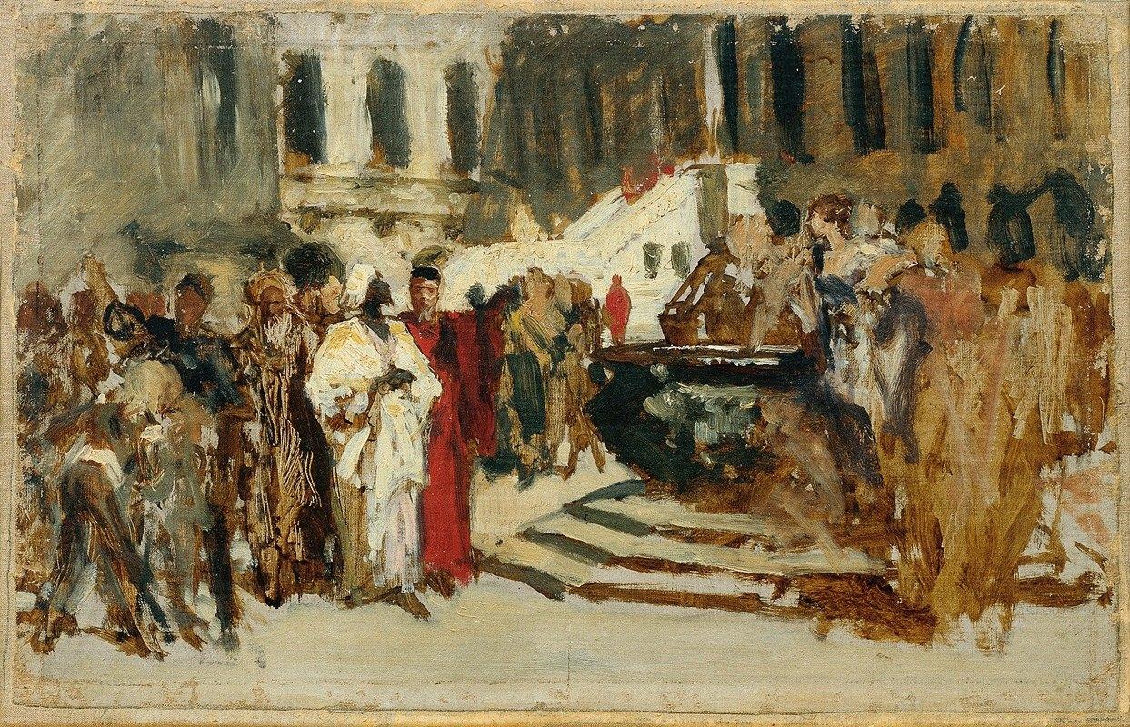Leopold Carl Müller - Skizze zum Gemälde 'Arabische Kaufleute in Venedig'